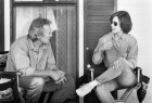 Clint Eastwood & Kathleen Kennedy on the set of Bridges of Madison County