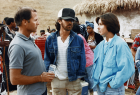 Frank Marshall, Steven Spielberg & Kathleen Kennedy on the set of The Color Purple