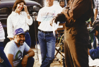 Kathleen Kennedy, Frank Marshall & Danny Glover on the set of The Color Purple