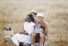 Kathleen Kennedy & Frank Marshall on the set of The Color Purple