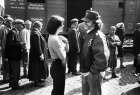Kathleen Kennedy & Steven Spielberg on the set of Schindler's List